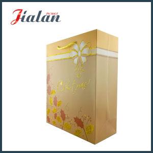 210g 백색 카드 반짝임 금 색깔 종이 쇼핑 백을 주문을 받아서 만드십시오