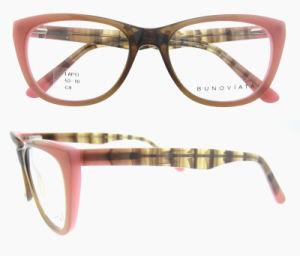 패션 디자이너 여자의 묘안석 모양 광학적인 안경알 프레임