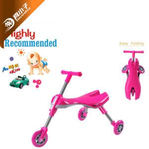 Bebé equilíbrio na infância ao longo da viagem de carro de bicicletas para crianças