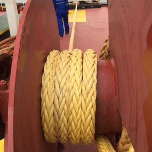 12 Strand haute résistance à la rupture UHMWPE corde de remorquage avec RS Rmrs Certificat