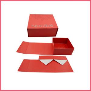 Transporte plana logotipo personalizado dobra impresso na caixa de papel com fecho magnético Folding Box caixa dobrável Caixa Dobrado Caixa dobra a dobragem Caixa de oferta Embalagem caixas de seleção