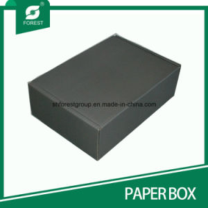 Matt Black Corrugated Shipping Paper Box mit Silver Hot Stampping