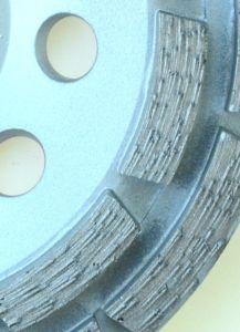 5 Pulgadas 125 mm/Fila Doule muela de diamante para el hormigón y albañilería/herramienta de diamante/herramienta de pulido
