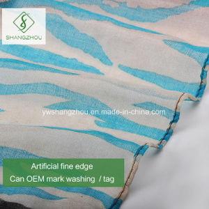 2017新しい勾配のScarfシマウマ縞によって印刷されるビスコースショールの方法女性
