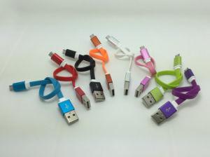 iPhone7/7plusのためのUSBケーブルを満たす多彩な20cmの長さ平らな8pin