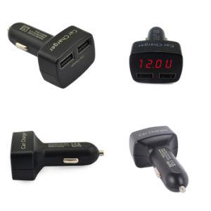 USB Car Charger di 3.1A/5vdual con il LED Display