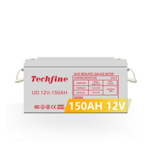 Techfine Venda quente AGM Bateria 12V 150 Ah chumbo ácido Bateria