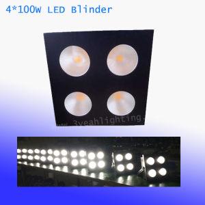 Efecto de lavado COB 4x100W LED de matriz de blanca cálida luz Blinder