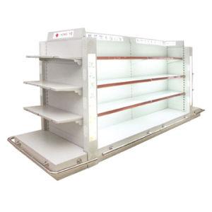 La Lotion de gondole en métal d'affichage étagère avec voyant LED (HY-16)