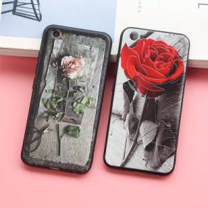 iPhone6s를 위한 로즈 꽃 이동할 수 있는 상자를 돋을새김하는 새로운 Retro 3D