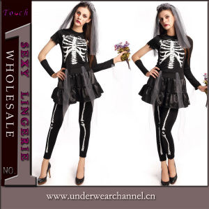 Halloween Party crâne squelette adulte Playsuit Cosplay Costumes80845-2 (TDD)