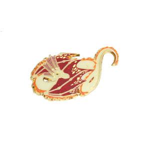 Оптовая торговля сувенирной промо изготовленный на заказ<br/> Блестящие цветные лаки Металлический бейдж