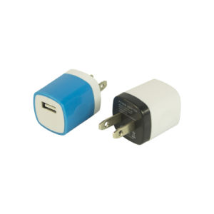 5V 1A 저희 전화 선창 셀룰라 전화를 위한 단 하나 USB 여행 충전기