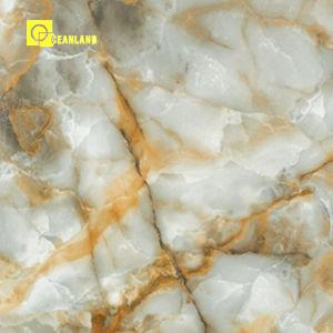 Вид древесины в полной мере полированного стекла покрыты керамической плиткой из фарфора пола для ванной комнаты