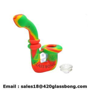 China-Großhandelspenis-Trinkwasserbrunnen-trockenes Kraut-Tabak-Silikon-Rohr-rauchendes Glaswasser-Rohr