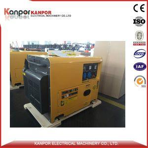 6kVA de Elektrische Diesel Genset van het Begin 5.5kVA Draagbaar met Wielen