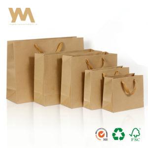 Handles를 가진 주문 Printing 브라운 Kraft Paper Bags