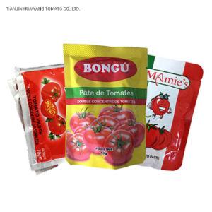 Fábrica de pasta de tomate, salsa de tomate de la bolsita de 70g, pasta de tomate 50g, de pie plano de la bolsita bolsita