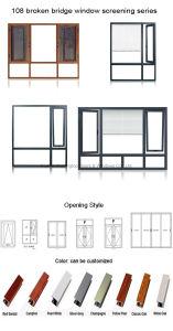 Finestra di alluminio della stoffa per tendine della doppia lastra di vetro di Feelingtop (FT-W108)