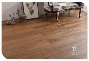 Escovado nogueira americana, Engineered Wood Flooring, UV lubrificada, pisos de madeira