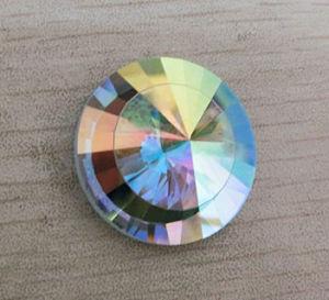 De ronde vlak AchterStenen van de Parels van het Glas Crystalab
