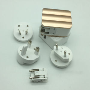 Enchufe cargador USB 2.4A multifuncional con US/EU/UK Socket