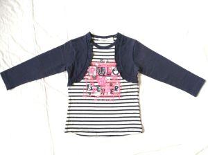Faux 2 pièces filles T-shirt Manches longues Vêtements d'enfants Vêtements de bébé