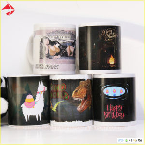 Super Cool canecas de cerâmica de mudança de cor de café para calor amigo revelar Magic canecas
