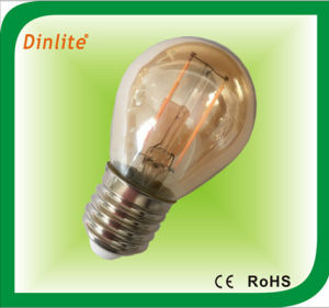 Venda por preço de fábrica Vintage Edison G45 2W E26/E27/B22 longa da lâmpada de filamento de lâmpada de luz LED de poupança de energia com marcação CE/RoHS/ISO9001/SGS