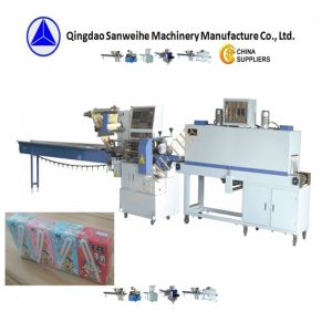 綿綿棒の自動収縮のパッキング機械