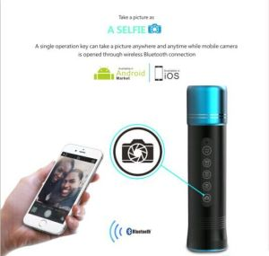 Customrized Selfie Function Portable Wireless Bluetooth Speaker con Flashligh