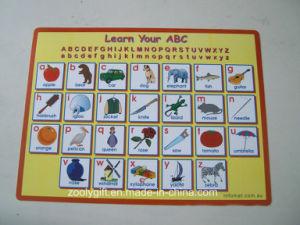 Saiba mais ABC impressos de PP de Turismo Pad Placemat de mesa para crianças