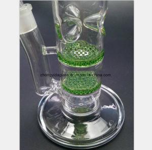 Blaue, grüne, transparente doppelte Schicht-Bienenwabe-Glasrohr für Filter