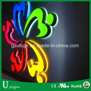 Mini LED de interior firman Carta de canal para las tiendas