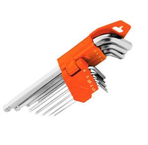 Ferramenta Mão de hardware de PCS 9 fendas chave hexagonal definido