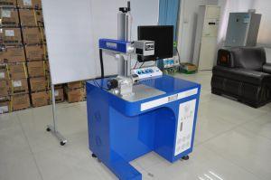 Mini máquina de marcado láser de fibra de acero inoxidable de plástico