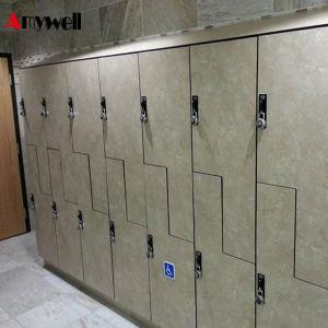Commerciële Compacte HPL Kast van het Meubilair 6 of 8 Doorclothing