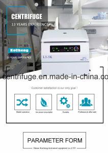 Centrifuga elettrica sicura ricca della materia grassa del latte del plasma della piastrina a bassa velocità 5000rpm del laboratorio del piano d'appoggio di L3-5K