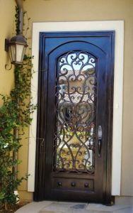 Gostavas de entrada único exteriores das portas de ferro metálico com mínimos Estilo Country Portas dianteiras utilizado