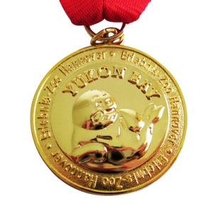 Freie Probe! Kundenspezifische Yukon-Bucht-Goldmedaillon-Medaille für Förderung (087)