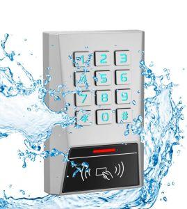 Mk1-Eh Zince Bluetooth de aleación de 125kHz 13.56MHz Em MIFARE HID Teclado de control de accesos Lector de tarjetas RFID