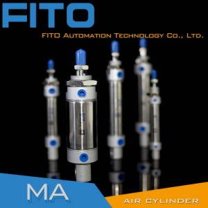Ма из нержавеющей стали серии ISO 100% тестирование мини-пневматического цилиндра
