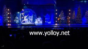 3m de diámetro danza inflables Snow Globe