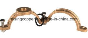 Braçadeira de bronze sela para tubo de PVC