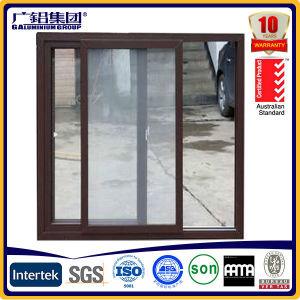 Famiglia della cucina che fa scorrere il rivestimento della polvere della finestra di telaio/doppia finestra di vetro riflettente del cursore