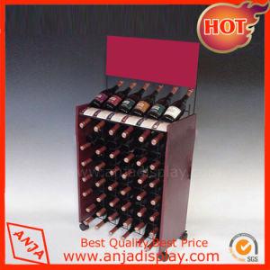 Qualitäts-kundenspezifische hölzerne Form-Wein-Bildschirmanzeige-Zahnstange für Speicher