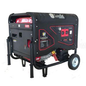 Электрический пуск 6.5kVA 15HP бензин генератор с ручками и колеса