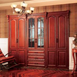 Wardrobe antigo da madeira contínua do amieiro de Oppein (YG21340)