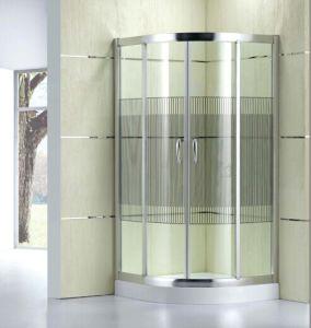 Diseño de moda baño Ducha de patrón de vidrio (D11).