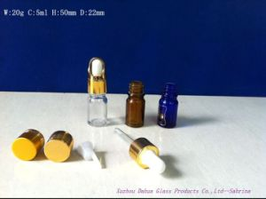 Printingの5ml ClearかColored Glass Essensial Oil Bottle